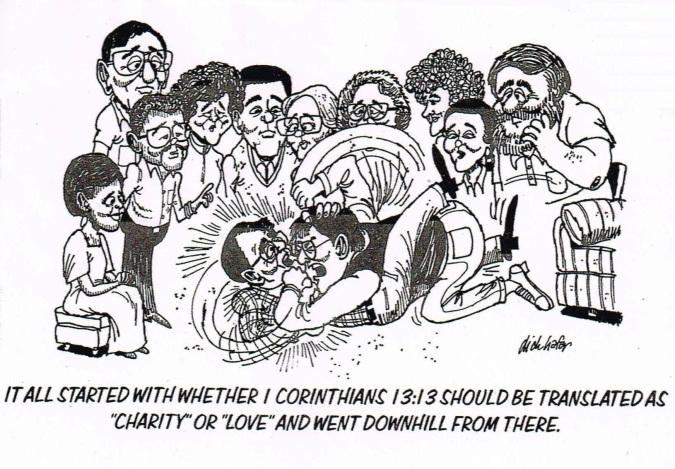 Love or charity cartoon